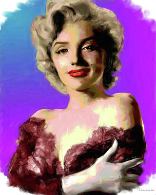 Curated Round Beach Towels - Marilyn Monroe by Stars on Art