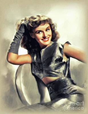 Winter Animals Rights Managed Images - Paulette Goddard, Vintage Actress Royalty-Free Image by John Springfield