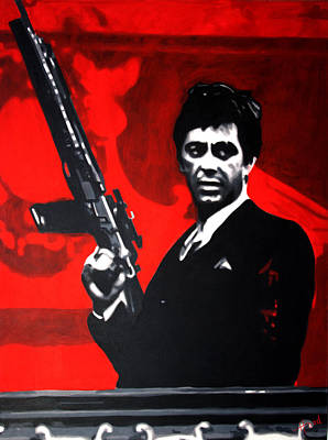 Abstract Graphics - Scarface by Sarah Hood