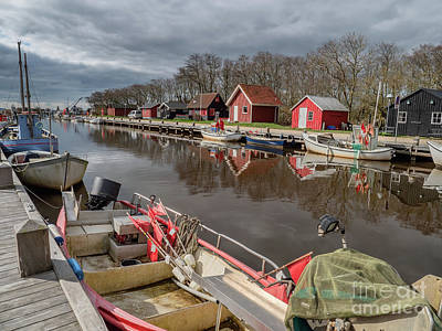 The Who - Stauning very small harbor by Ringkoebing fjord, Denmark by Frank Bach