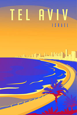 Latidude Image - Tel Aviv by Celestial Images