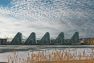 Fruits And Vegetables Still Life - The wave boelgen iconic modern apartments in Vejle, Denmark by Frank Bach