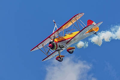 Photo Royalty Free Images - 500 HP Stearman  Royalty-Free Image by Jerry Fornarotto