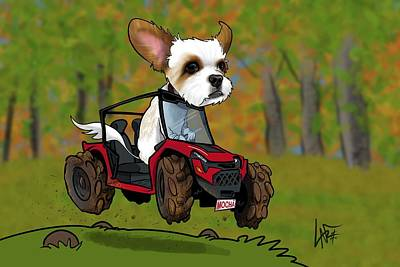 Royalty-Free and Rights-Managed Images - 5981 Belcher 3 by Canine Caricatures Custom Merchandise