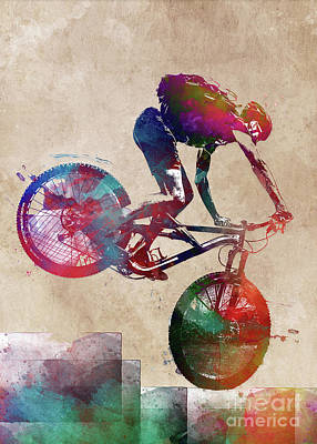 Kitchen Food And Drink Signs - Cycling #cycling #sport #bike by Justyna Jaszke JBJart