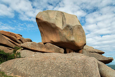 Purely Purple - Interesting rock formation on Pink Granite Coast in northern Brittany by Stefan Rotter