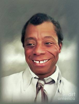 Bath Time Rights Managed Images - James Baldwin, Literary Legend Royalty-Free Image by John Springfield