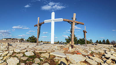 Travel Rights Managed Images - The Cross of our Lord Jesus Christ in Groom Texas Royalty-Free Image by Eldon McGraw