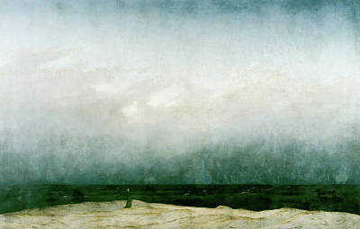 Minimalist Movie Quotes - The Monk by the Sea by Caspar David Friedrich