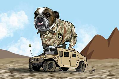 Royalty-Free and Rights-Managed Images - 6020 Culberson TWO by Canine Caricatures Custom Merchandise