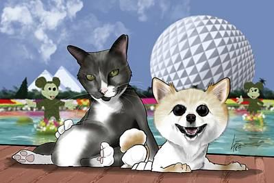 Animal Portraits - 6145 Hernandez by Canine Caricatures Custom Merchandise