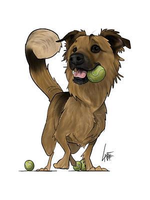 Animal Portraits - 6146 Hernandez by Canine Caricatures Custom Merchandise