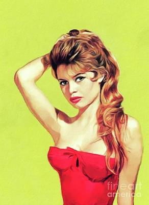 Thomas Kinkade - Brigitte Bardot, Actress by Esoterica Art Agency