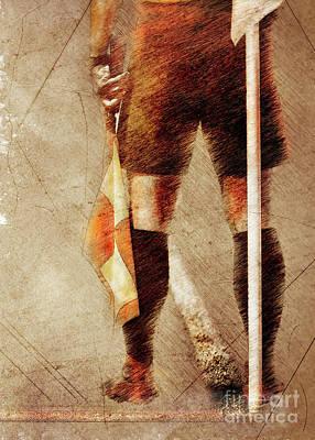 Sean - Football player sport art #football #soccer by Justyna Jaszke JBJart