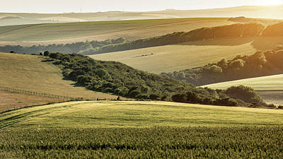 Katharine Hepburn - Stunning late Summer afternoon light over rolling hills in Engli by Matthew Gibson