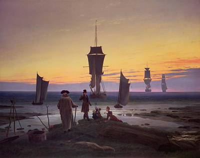 Marvelous Marble Rights Managed Images - The Stages of Life Royalty-Free Image by Caspar David Friedrich