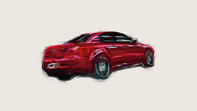 Open Impressionism California Desert Royalty Free Images - Alfa Romeo 159 Car Drawing Royalty-Free Image by CarsToon Concept