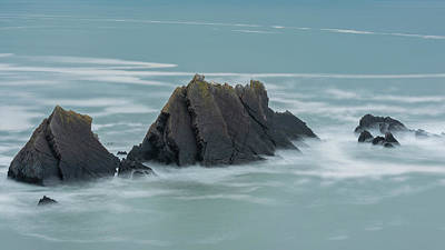 Farmhouse Royalty Free Images - Stunning fine art landscape image of view from Hartland Quay in  Royalty-Free Image by Matthew Gibson