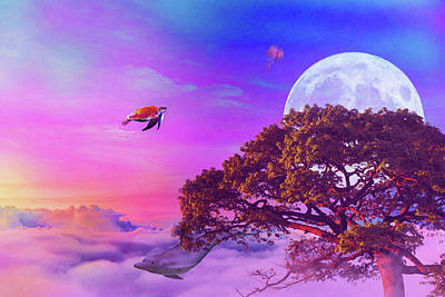 Royalty-Free and Rights-Managed Images - Fantasy - Surreal - Weird - in watercolor  by Celestial Images