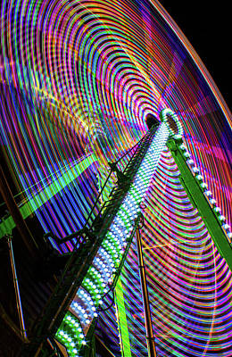 Whimsically Poetic Photographs - Colorful Ferris Wheel by Mark Chandler