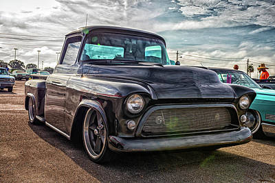Sean Rights Managed Images - Customized 1956 Chevrolet 3100 Apache Pickup Truck Royalty-Free Image by Gestalt Imagery