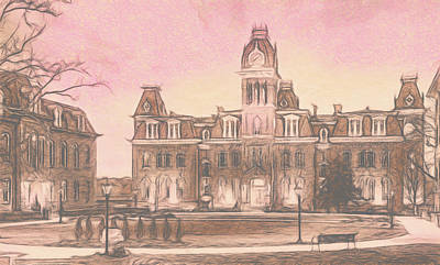 Photograph - Woodburn Hall at West Virginia University in Morgantown WV by Steven Heap