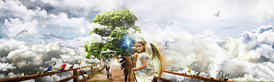 Surrealism Royalty-Free and Rights-Managed Images - Fantasy - Surreal - Weird - in watercolor  by Celestial Images