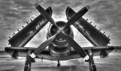 Anne Geddes Collection - A-1 Skyraider Black and White by Philip Rispin