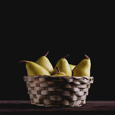 Photograph - A Basket Full Of Pears. by Giuseppe Lombardo