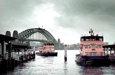 Surrealism Royalty-Free and Rights-Managed Images - A bleak day in Sydney Circular Quay - Surreal Art by Ahmet Asar by Celestial Images