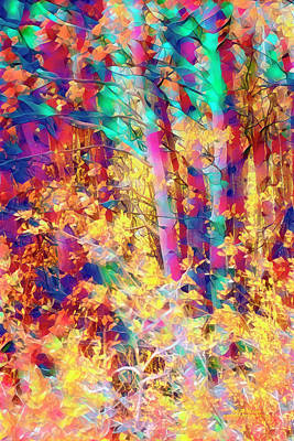 Digital Art - A Blind Child's Forest by Mike Braun