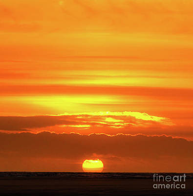 Photograph - A Burning Sunset From Formby  by Andrew George Photography