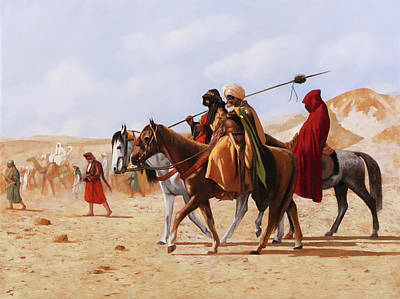 Royalty-Free and Rights-Managed Images - A Cavallo Nel Deserto by Guido Borelli