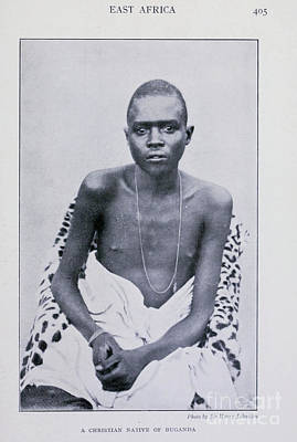 Drawings Royalty Free Images - A Christian Native Of Buganda Uganda i Royalty-Free Image by Historic illustrations