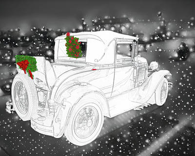 Photograph - A Christmas Ford by Phyllis Stokes