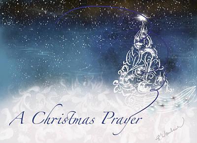 Digital Art - A Christmas Prayer  by Kristen Wambach