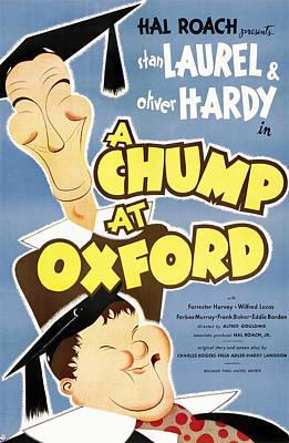 Royalty-Free and Rights-Managed Images - A Chump at Oxford poster 1939 by Stars on Art