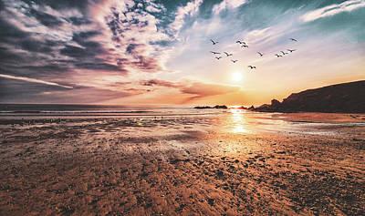 Audrey Hepburn - A Cornish Sunset by Martin Newman