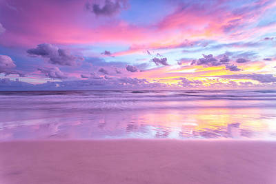 Royalty-Free and Rights-Managed Images - A cotton candy sunrise at the beach by Julien