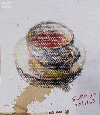 Painting - A Cup Of Tea by Sukalya Chearanantana