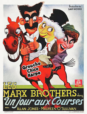 Royalty-Free and Rights-Managed Images - A Day at the Races, with the Marx Brothers, 1935 by Stars on Art