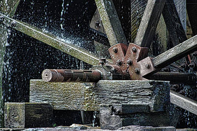 World War 2 Action Photography - A Dripping Waterwheel by Selena Lorraine