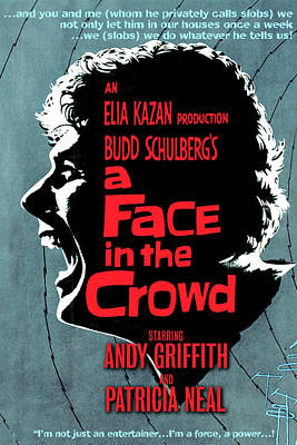 Royalty-Free and Rights-Managed Images - A Face in the Crowd movie poster 1957 by Stars on Art