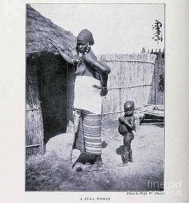 Drawings Royalty Free Images - A Fula Woman, Sokoto Nigeria i2 Royalty-Free Image by Historic illustrations