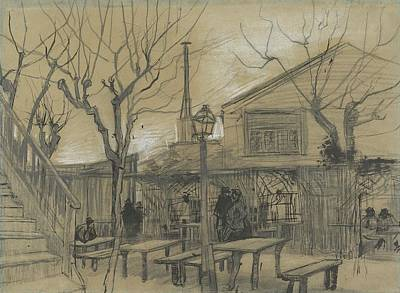 Sean Rights Managed Images - A Guinguette Paris February  March 1887 Vincent van Gogh 1853  1890 Royalty-Free Image by Arpina Shop