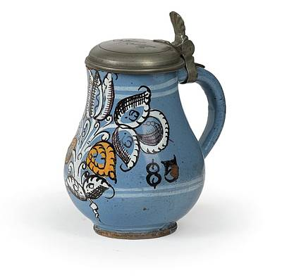 Olympic Sports - A Habaner Jug, Slovakia, Dated 1685 by Artistic Rifki