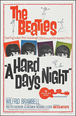 Railroad - A Hard Days Night poster 1964 by Stars on Art