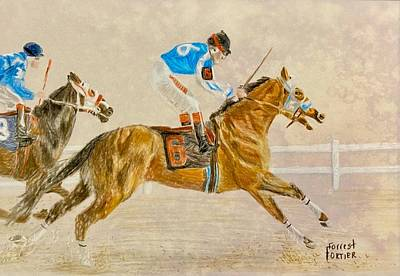 Animals Royalty-Free and Rights-Managed Images - A Horse Ahead by Forrest Fortier