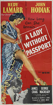 Royalty-Free and Rights-Managed Images - A Lady Without Passport, with Hedy Lamarr, 1950 by Stars on Art