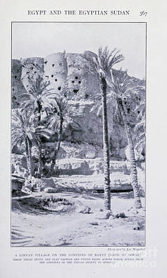 Drawings Royalty Free Images - A Libyan village i1 Royalty-Free Image by Historic illustrations